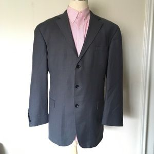 Nautica Mens 48L Gray 3 Button Wool Blazer/Jacket.